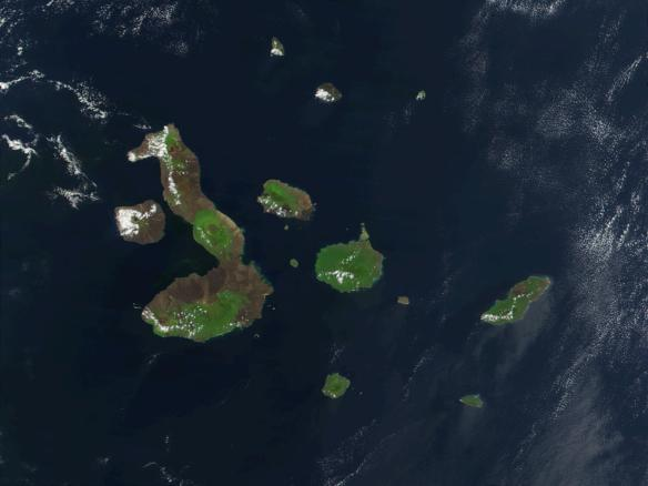 The Galapagos Islands. NASA image.