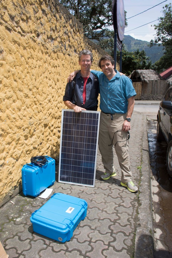 John gives me the second Solar Suitcase, for our Rio Zunac Reserve. How exciting! Electricity is needed for almost any kind of advanced biological research, so this opens new horizons for us and will certainly lead to many new discoveries.