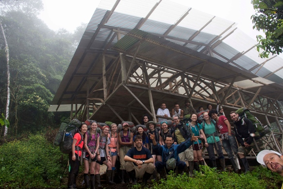 Lawrenceville School group at our Cerro Candelaria station.